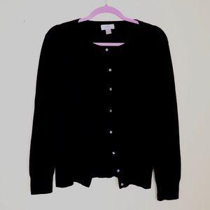 Ann Taylor LOFT Black Cardigan Size L